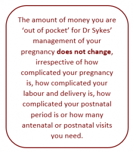 Obstetric Excellence - Out of Pocket Expenses