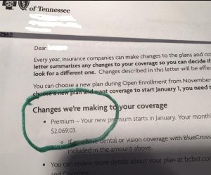 Health insurance premiums USA vs. Aus