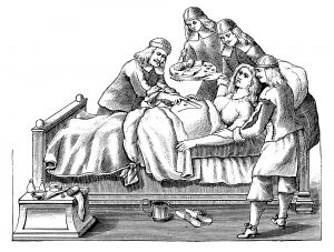 History of Caesarean section delivery
