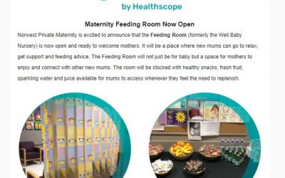 Norwest Hospital Maternity feeding room now open