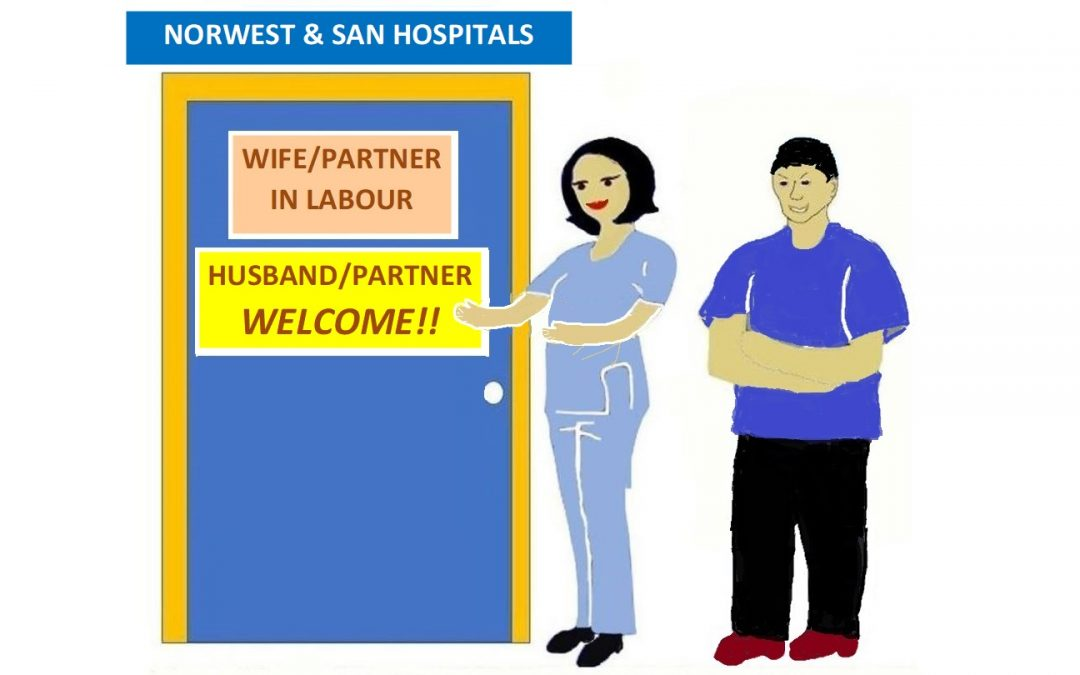 Husband/partner WELCOME during COVID restrictions at Norwest and the SAN Hospitals